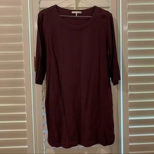 Oak + Fork Burgundy Dress